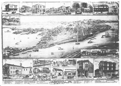 Bird's-Eye View of Benicia 1885