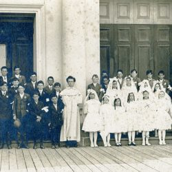 St. Dominic's students at First Communion circa 1920.