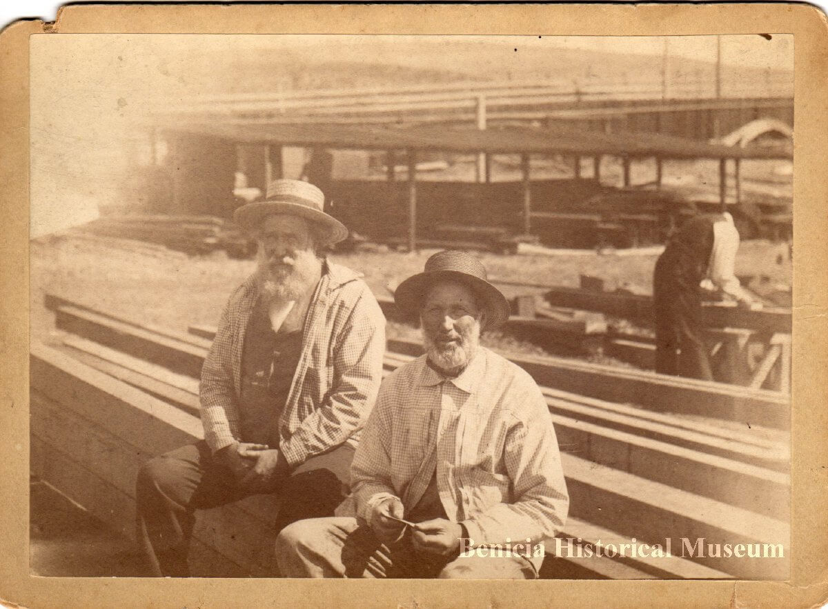 Photo of Matthew Turner and brother Horatio at the Benicia ship yard