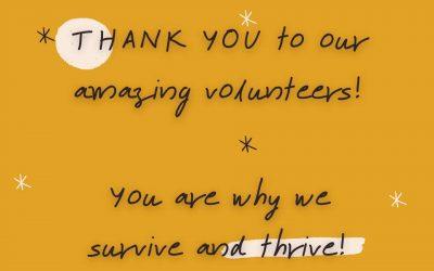 Thank you, Volunteers!